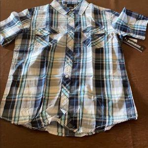 Men's stylish short sleeve button down
